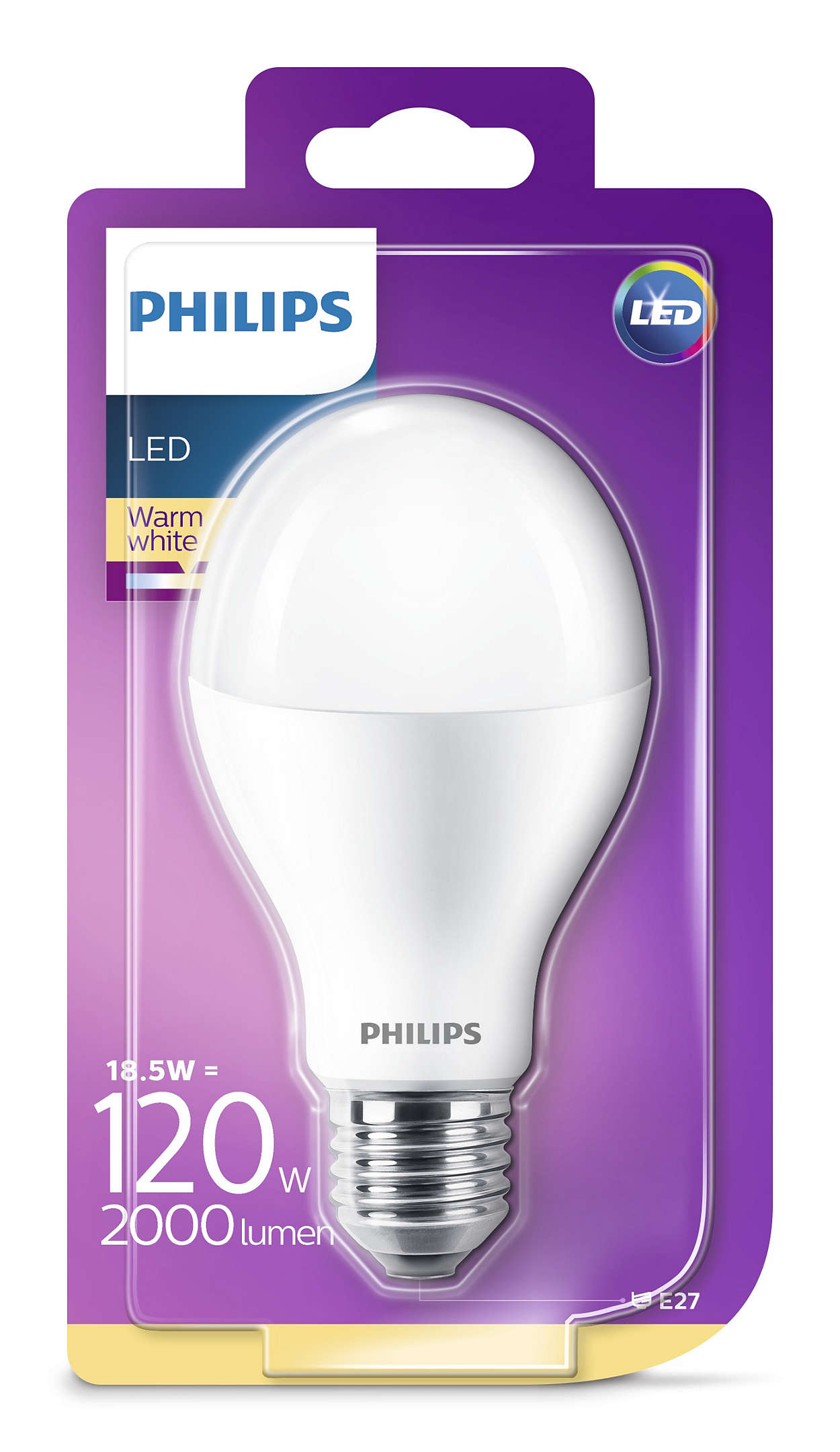 PHILIPS Consumer LED bulb 18.5-120W A67 E27 827 FR ND
