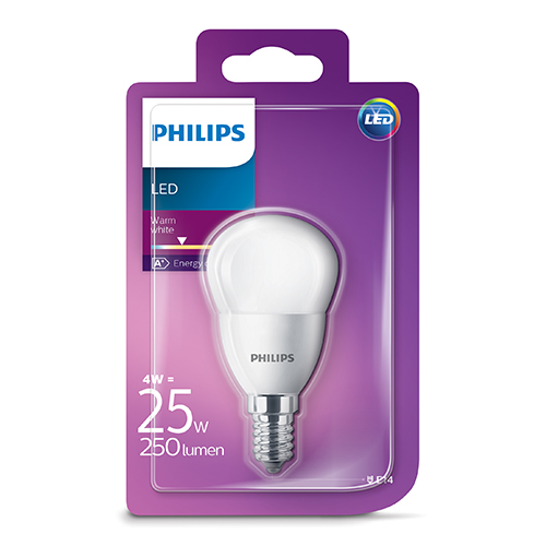 PHILIPS Consumer LED luster 4-25W P45 E14 827 FR ND