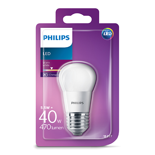 PHILIPS Consumer LED luster 5.5-40W P45 E27 827 FR ND