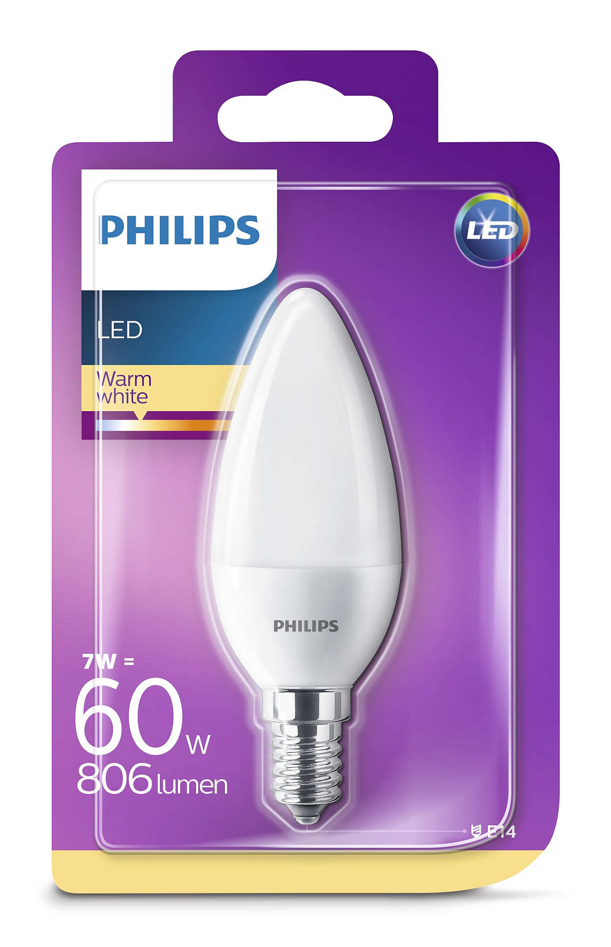 PHILIPS Consumer LED candle 7-60W B35 E14 827 FR ND
