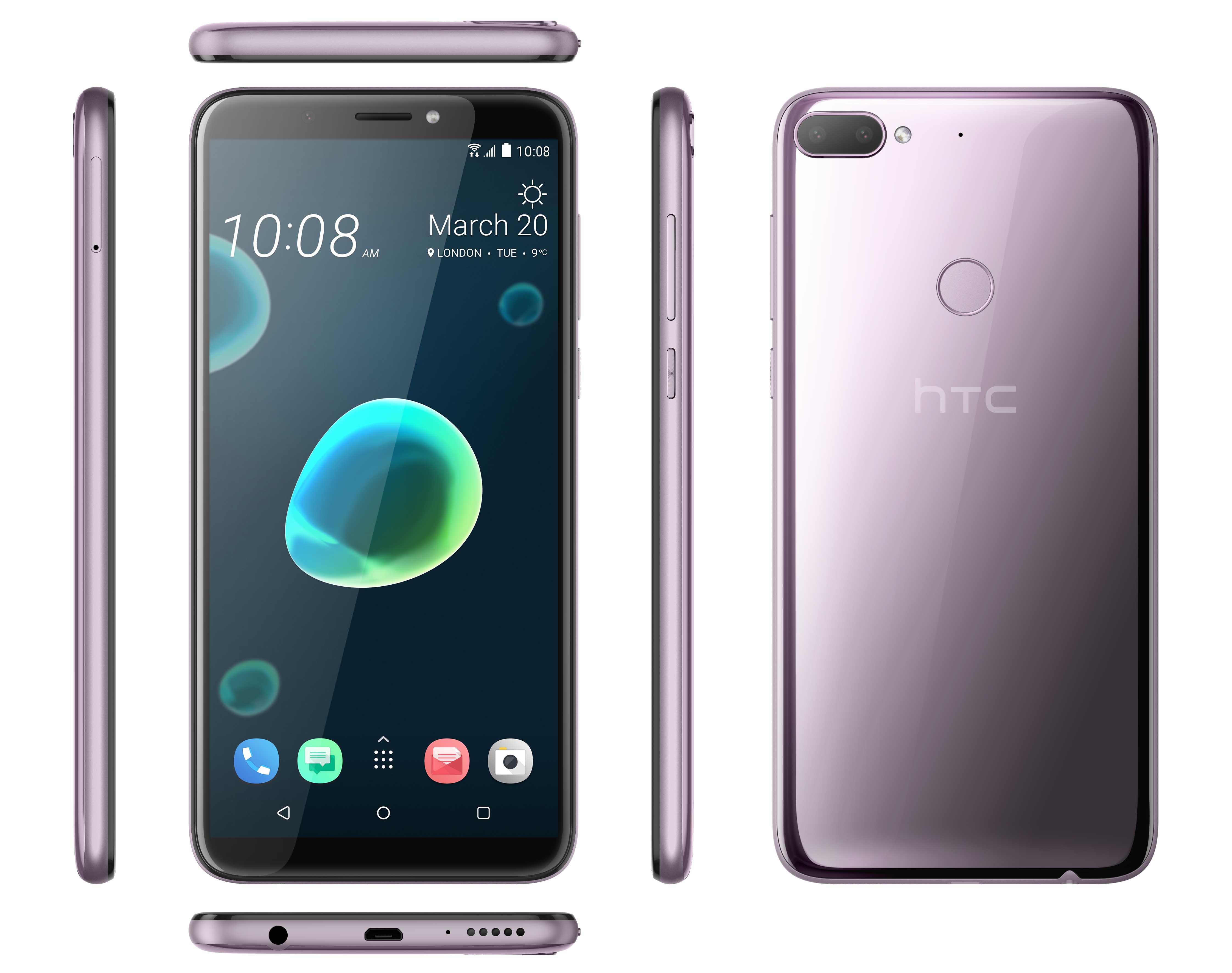 HTC Desire 12 Plus, DS, Warm Silver