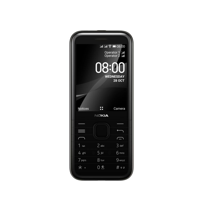 Nokia 8000 4G DS, BLACK