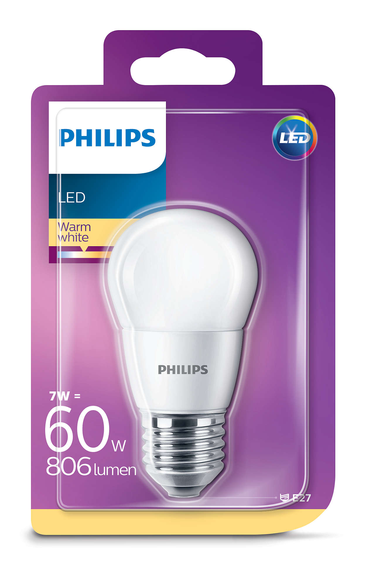 PHILIPS Consumer LED luster 7-60W P45 E27 827 FR ND